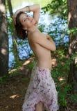 Topless Hippie royalty-vrije stock afbeelding