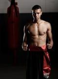 Topless kung fu Stock Image