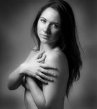 Topless modest girl Royalty Free Stock Images