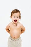 Topless peuterjongen stock afbeelding