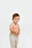 topless pojkelitet barn Arkivfoto