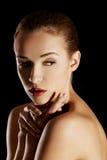 Topless sensual caucasian woman. Stock Photo