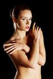 Topless sensual caucasian woman. Stock Photos