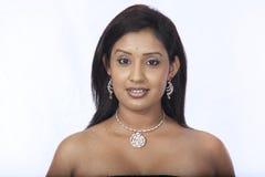 Topless srilankan model. Beautiful asian model closeup shot Stock Image