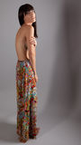 Topless Woman in Long Skirt Stock Image
