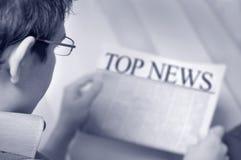 Topnachrichten Stockbild