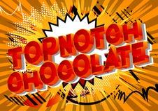 Topnotch Chocolate - Comic book style words. stock illustration