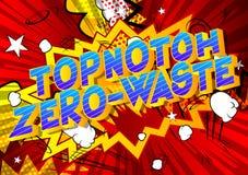 Topnotch Noll-avfalls - humorbokstilord royaltyfri illustrationer