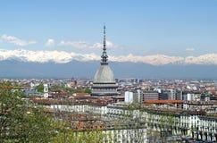 Topo Antonelliana en Turín, Italia Fotos de archivo libres de regalías