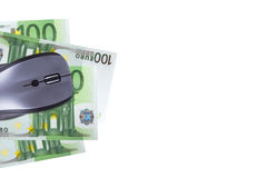 Topo con l'euro banconota Fotografie Stock Libere da Diritti