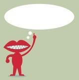 Topo con la citazione di discorso della bolla per testo Fotografia Stock