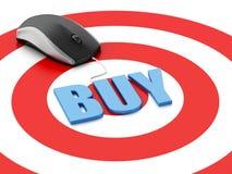 topo 3d sull'obiettivo Concetto di commercio elettronico Immagini Stock Libere da Diritti