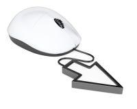 Topo del computer con il cursore del puntatore Immagini Stock Libere da Diritti