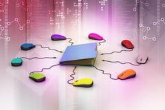 Topo del computer con la cartella di archivio Immagine Stock Libera da Diritti