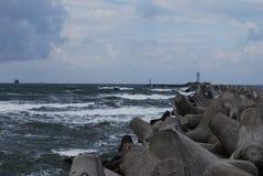 topo del mar KlaipÄ-DA Imagen de archivo libre de regalías
