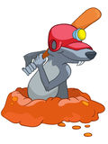 Topo del personaje de dibujos animados Foto de archivo libre de regalías