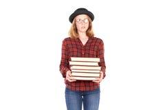 Topo di biblioteca adolescente Fotografia Stock Libera da Diritti