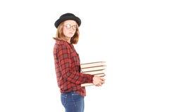 Topo di biblioteca adolescente Immagine Stock