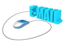 Topo ed email del computer Immagini Stock Libere da Diritti