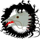 Topo grigio del nero del ratto e capra nera impertinente illustrazione di stock