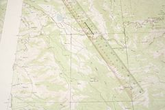 Topo Map and ruler Royalty Free Stock Photos