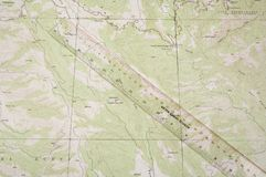 Topo Map and ruler Royalty Free Stock Image