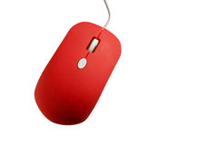 Topo rosso del computer Fotografia Stock