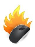 Topo senza fili bruciante del computer illustrazione vettoriale