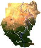 Topografia de Sudão Ilustração do Vetor