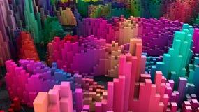Topografia e cores abstratas ilustração royalty free