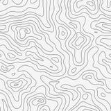 Topograficznej mapy Bezszwowy wzór Obrazy Royalty Free
