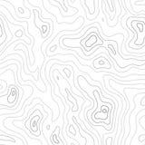 Topografisch Kaart Naadloos Patroon Stock Afbeeldingen