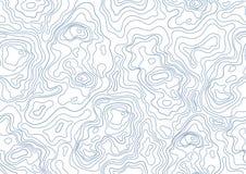 Topografisch Kaart Naadloos Patroon Zwart-wit achtergrond met abstracte vormen vector illustratie