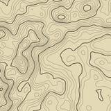 Topografisch kaartconcept als achtergrond met ruimte voor uw exemplaar De kunstcontour van topografielijnen, berg wandelingssleep Royalty-vrije Stock Foto's