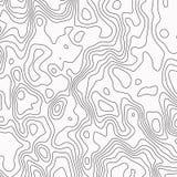 Topografische Kaart Contour abstracte achtergrond Vector illustratie royalty-vrije illustratie