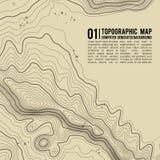 Topografische kaartachtergrond met ruimte voor exemplaar De achtergrond van de de kaartcontour van de lijntopografie, geografisch Royalty-vrije Stock Foto's