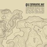 Topografische kaartachtergrond met ruimte voor exemplaar De achtergrond van de de kaartcontour van de lijntopografie, geografisch vector illustratie