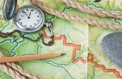 Topografische kaarten Stock Afbeeldingen