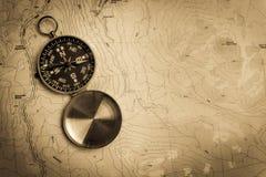 topografisk kompassöversikt arkivbilder