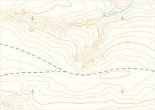 Topographic översikt för abstrakt vektor royaltyfri illustrationer
