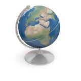 Topographic globe Stock Image