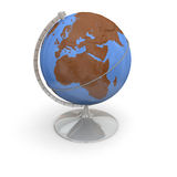 Topographic globe Royalty Free Stock Photo