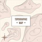 Topographic kartlägga företagsbaner med lättnad stock illustrationer