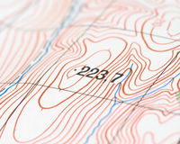 Topographic map Royalty Free Stock Photo