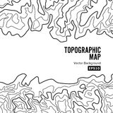 Topographic Map Background Concept. Elevation . Topo Contour  . Isolated On White Stock Photo
