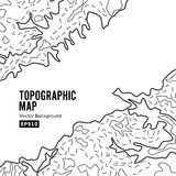 Topographic Map Background Concept. Elevation . Topo Contour  . Isolated On White Stock Image