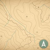 Topographic Map Royalty Free Stock Images