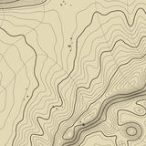 Topographic map background concept with space for your copy. Topography lines art contour , mountain hiking trail Stock Image