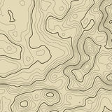 Topographic map background concept with space for your copy. Topography lines art contour , mountain hiking trail Royalty Free Stock Images