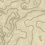 Topographic map background concept with space for your copy. Topography lines art contour , mountain hiking trail stock illustration